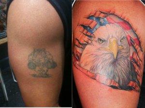 cover up tattoo patriotic